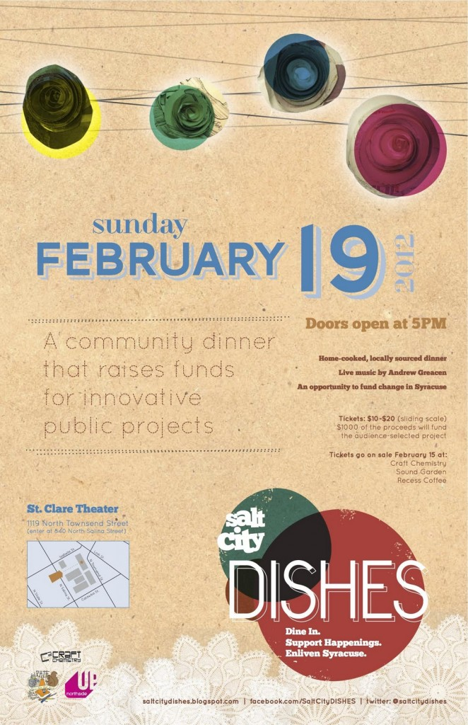 February Salt City Dishes event poster