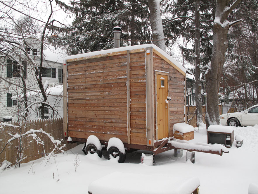 Snow Sauna New Year Backyard